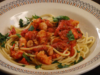 Easy Angel Hair Pasta with Shrimp Tomato Sauce recipe – Man